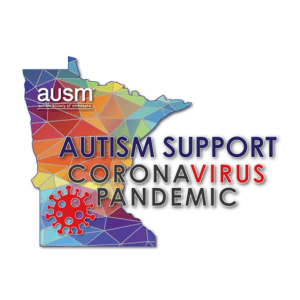 Covid autism support logo