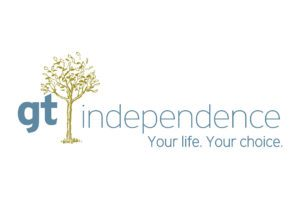 GT Independence logo with tree and reads Your life. Your Choice. Colors are light blue and green