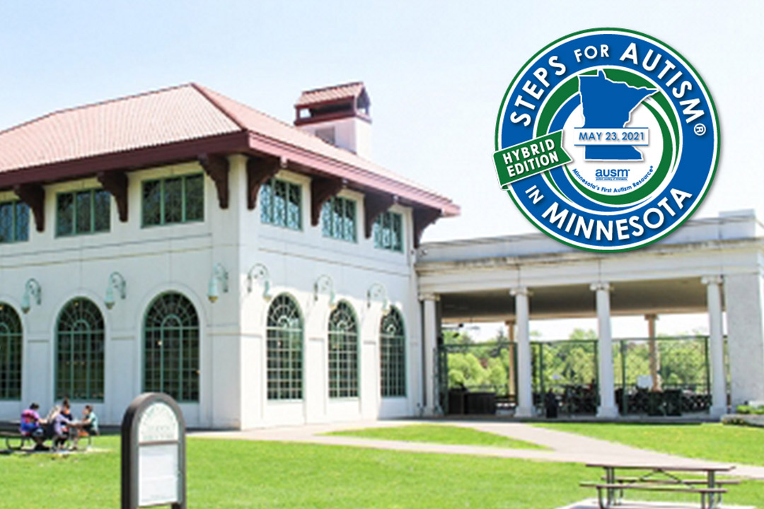 Photo of Como Lakeside Pavilion with Steps for Autism in Minnesota 2021 logo overlay