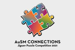 AuSM Connections Jigsaw Puzzle Competition 2021 logo with colorful puzzle pieces assembled